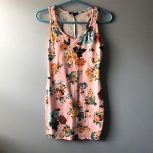 Ambience pink floral body con dress size s
